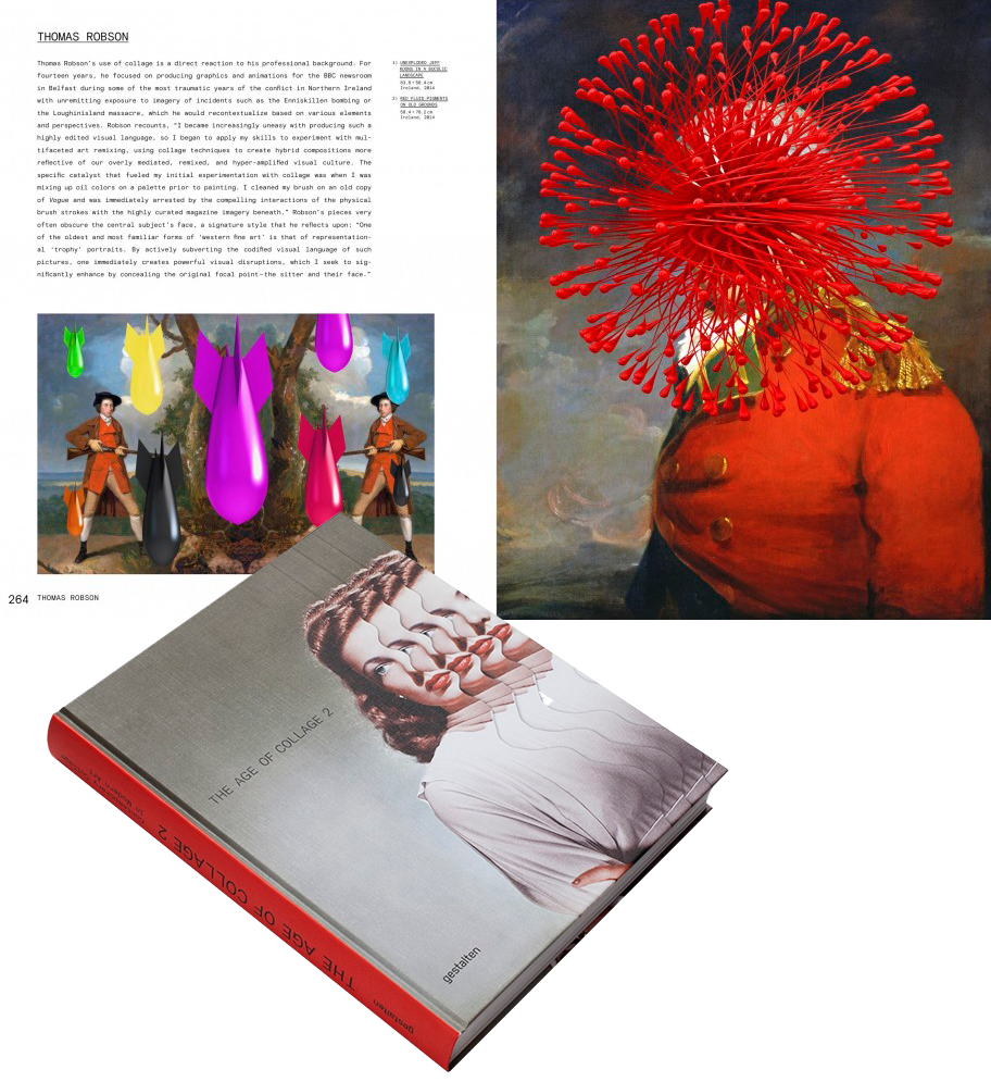 art books featuring thomas robson, The Age of collage 2, book interior image  10