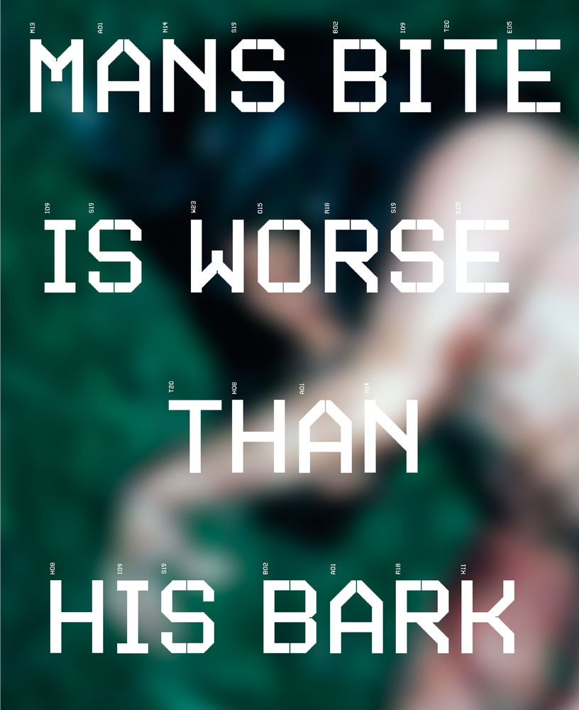 mans bite is worse than his bark, image